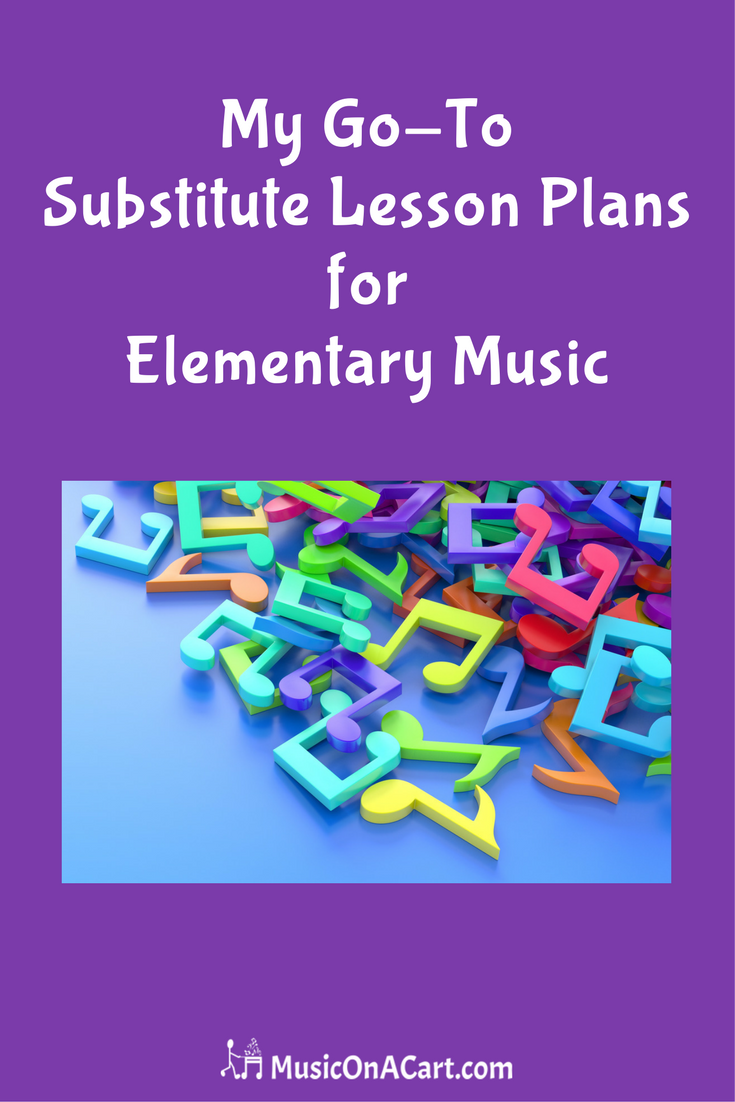 My Go-To Substitute Lesson Plans for Elementary Music