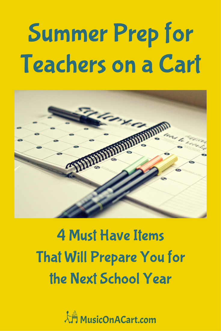 These four supply items will keep you organized and give you a great start heading into a new school year! | www.MusicOnACart