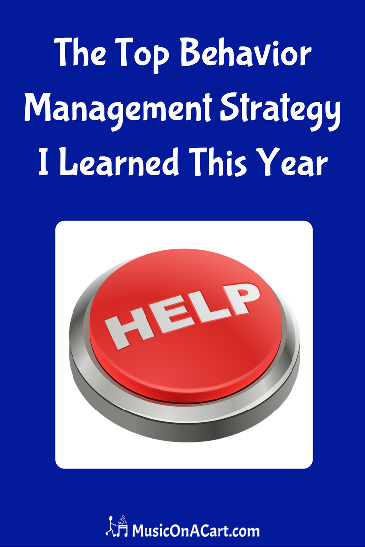 Here's the top classroom management strategy I did in my music classes this year. | www.MusicOnACart.com
