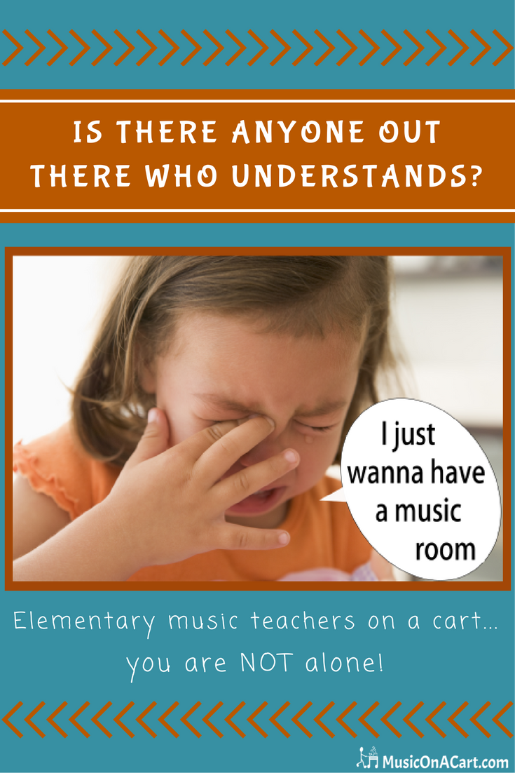 Teaching from a cart? Don't worry, you can do this! Check out encouraging info on www.MusicOnACart.com