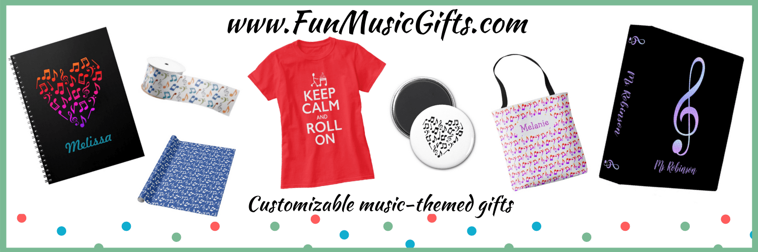 Great music gifts for teachers, students, musicians, and music lovers! | www.FunMusicGifts.com