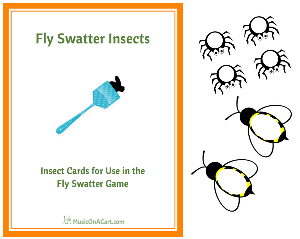 Fly Swatter Insects cards are a fast-paced, fun game your students are sure to love! | www.MusicOnACart.com