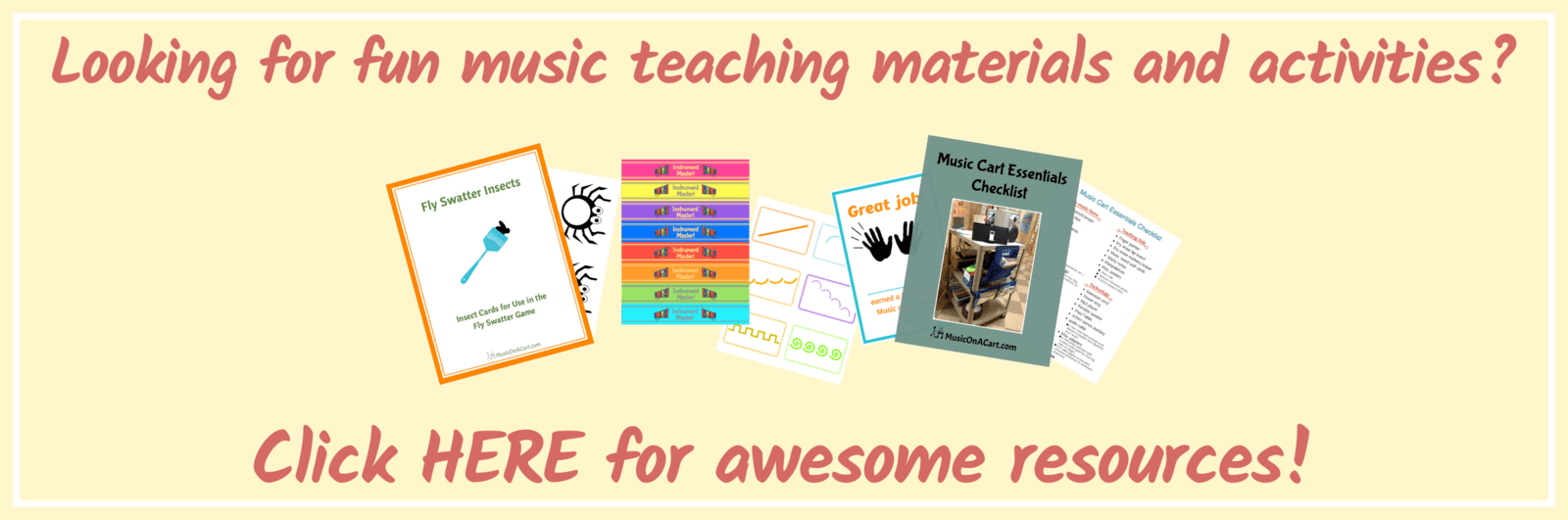 Elementary music resources and teaching inspiration | www.MusicOnACart.com